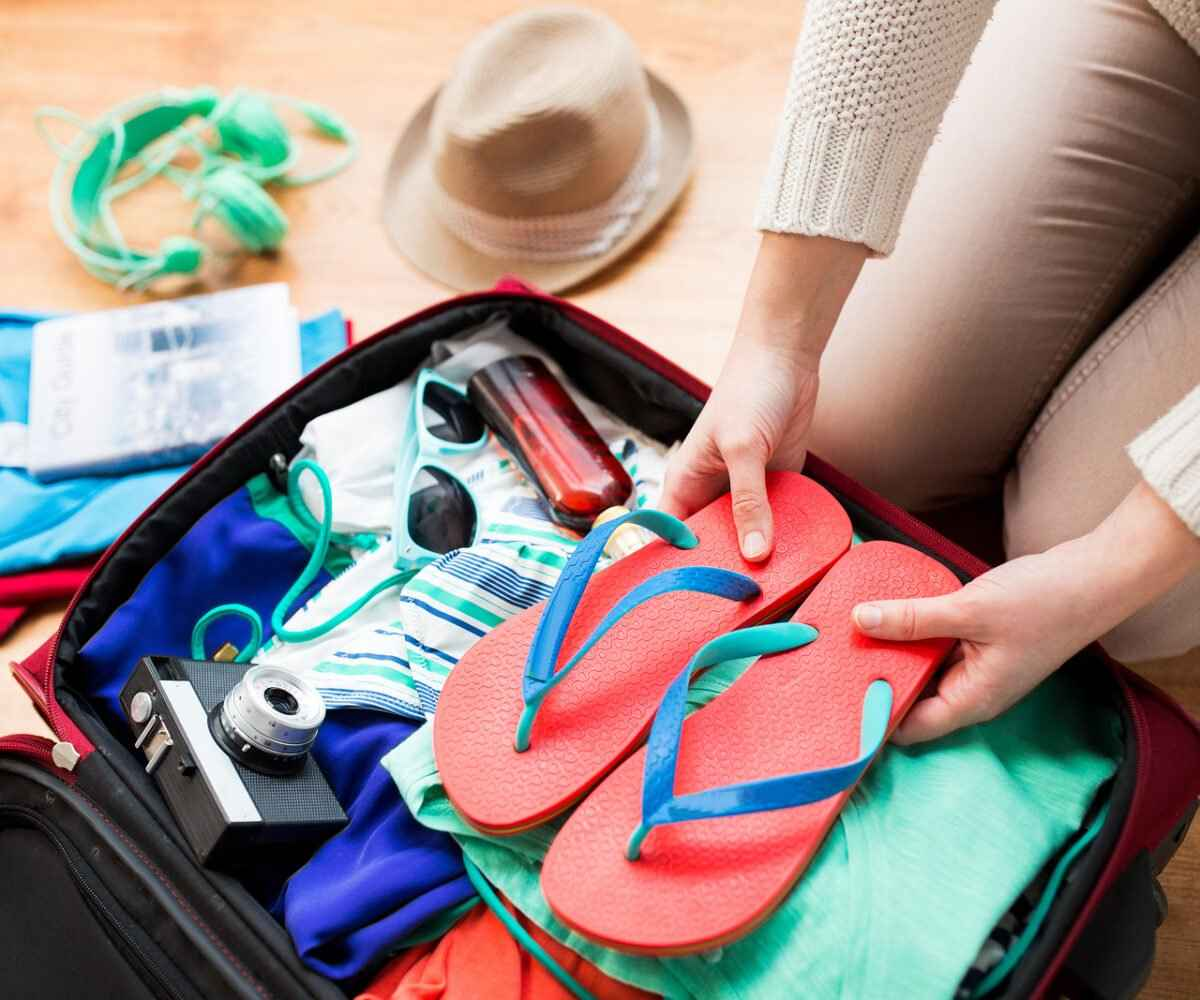Packing a suitcase for vacation
